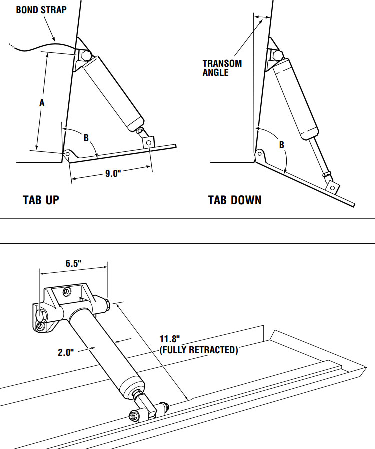 hynautictrimtransomangleandmountingposition1 bennett trim tab wiring diagram dolgular com boat leveler trim tabs wiring diagram at reclaimingppi.co